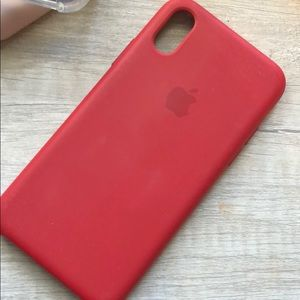 Red silicone Apple iPhone X/xs case